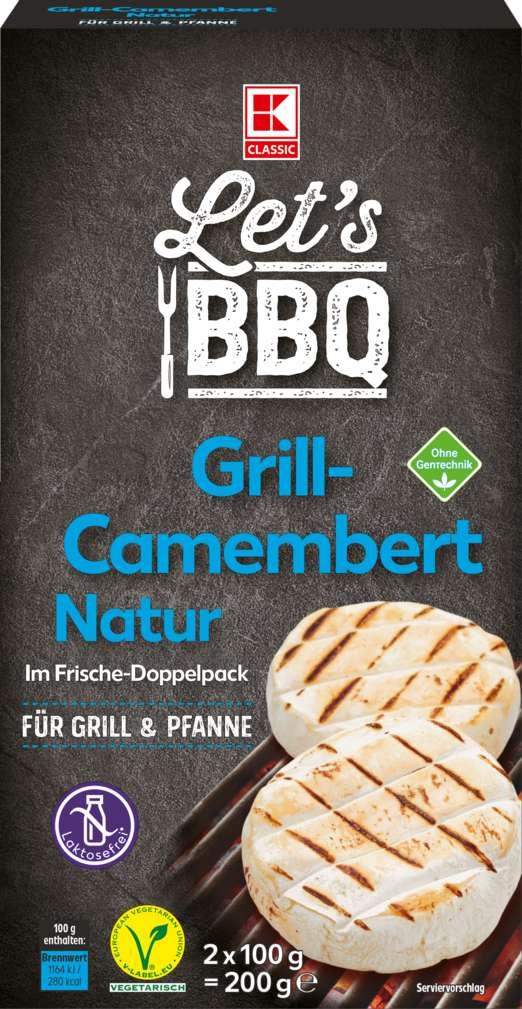Abbildung des Sortimentsartikels K-Classic Let's BBQ Grill-Camembert natur 2x100g
