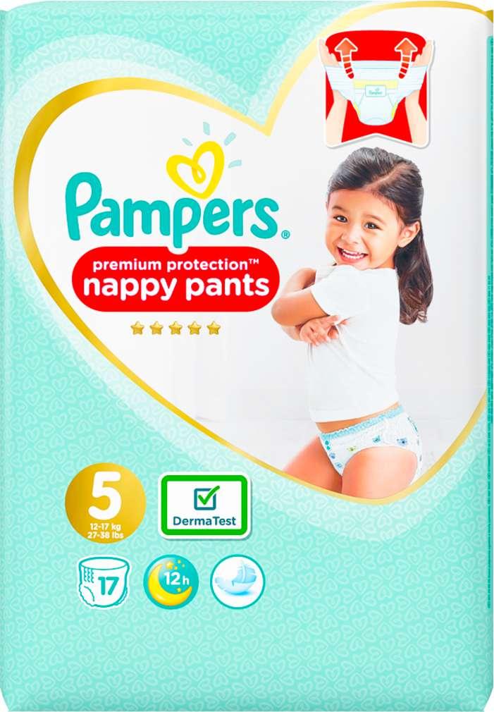 Abbildung des Sortimentsartikels Pampers Premium Protection Pants Größe 5, 12-17kg 17 Stück