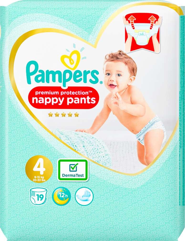 Abbildung des Sortimentsartikels Pampers Premium Protection Pants Größe 4, 9-15kg 19 Stück
