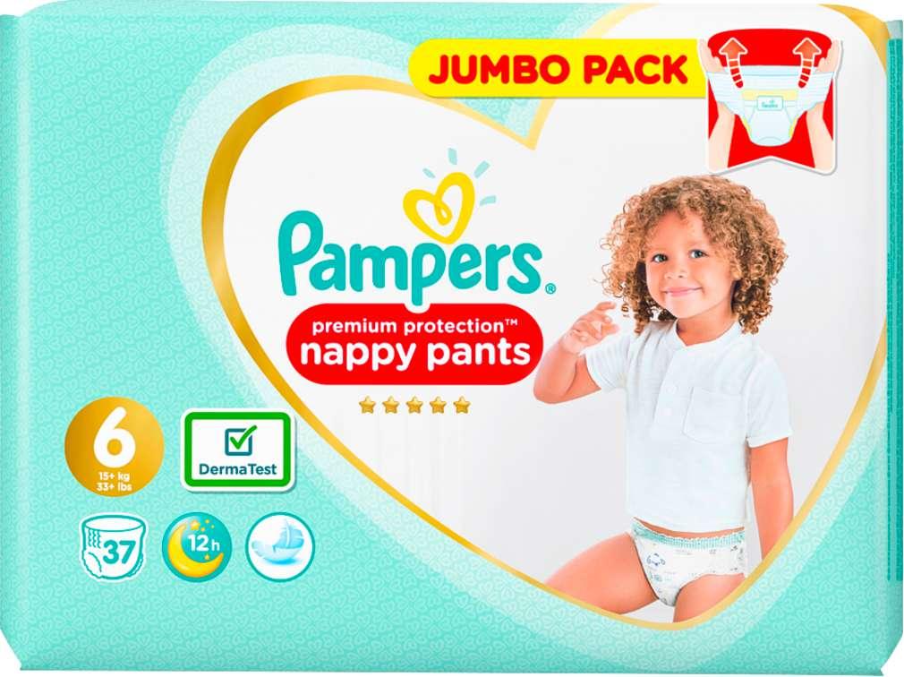 Abbildung des Sortimentsartikels Pampers Premium Protection Pants Größe 6, 15+kg 37 Stück