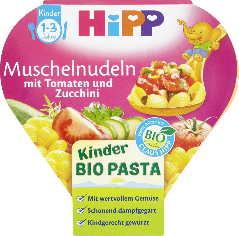 Abbildung des Sortimentsartikels Hipp Kinder Bio Pasta Muschelnudeln 1-3  250g