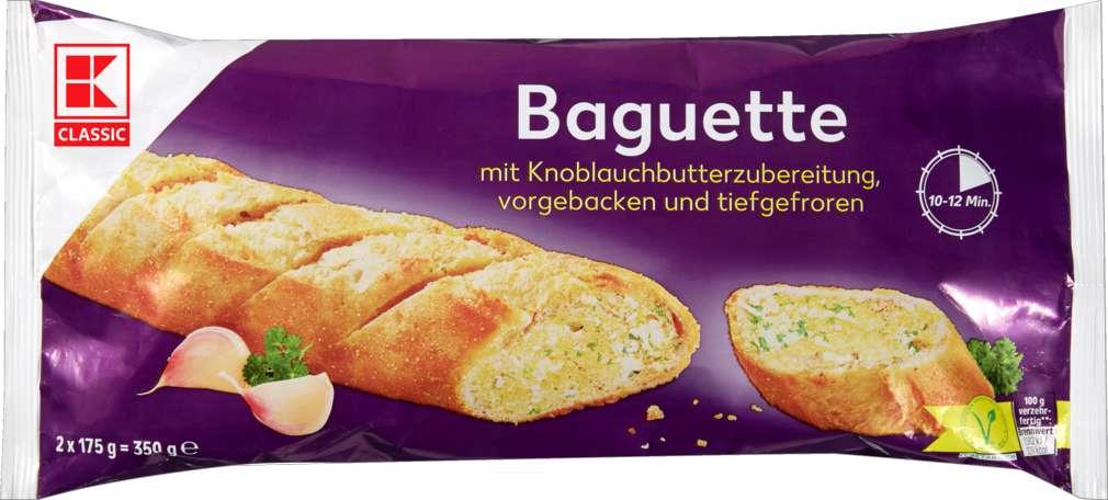 Abbildung des Sortimentsartikels K-Classic Knoblauchbutter - Baguettes, 2 Stück 350g