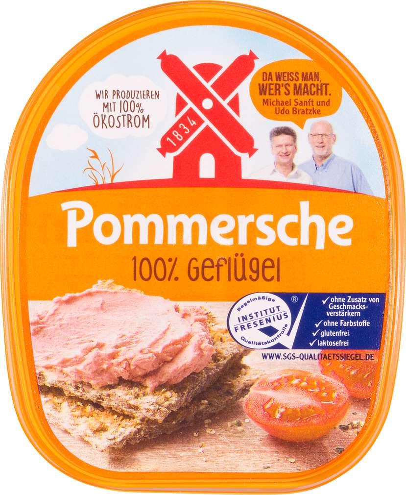 Abbildung des Sortimentsartikels Rügenwalder Mühle Pommersche Leberwurst 100% Geflügel 125g