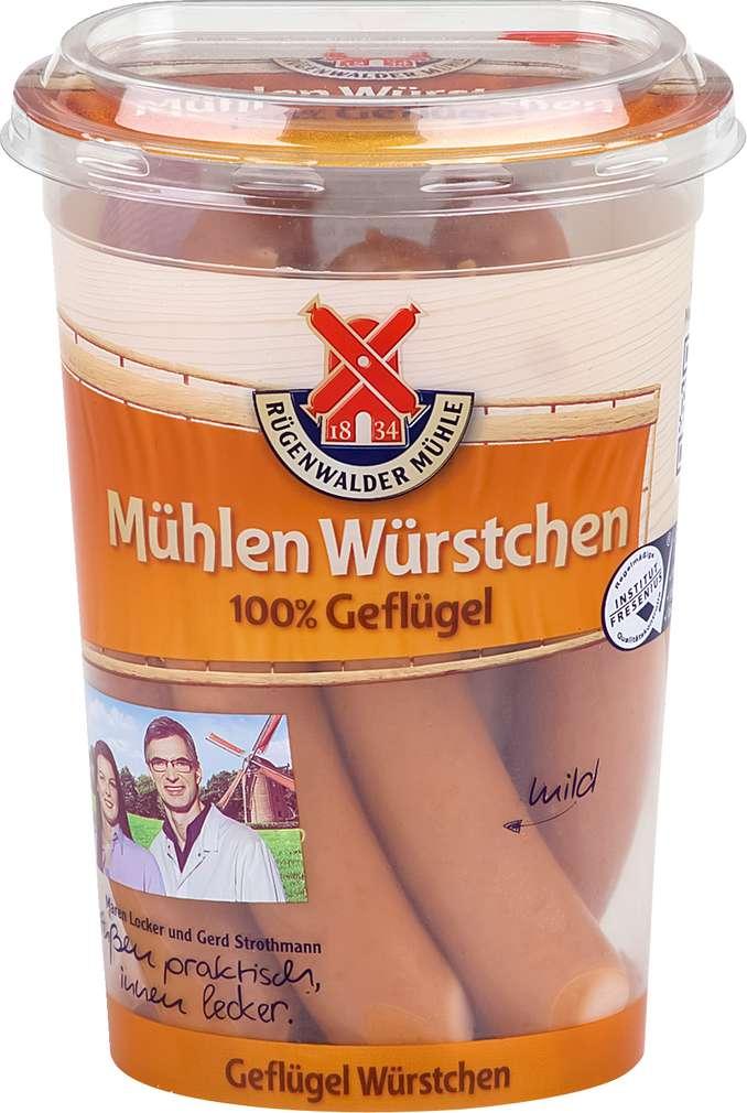 Abbildung des Sortimentsartikels Rügenwalder Mühle Geflügel Würstchen 100% Geflügel 6x37g