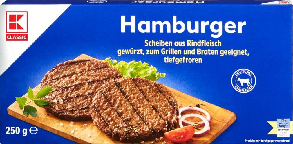 Abbildung des Sortimentsartikels K-Classic Hamburger 250g