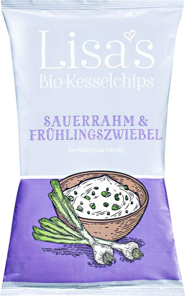 Abbildung des Sortimentsartikels Lisa's Kartoffel-Chips Sauerrahm & Frühlingszwiebel 110g