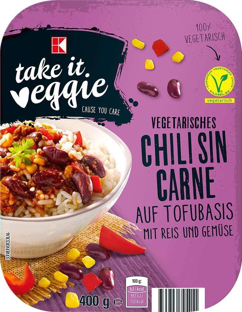 Abbildung des Sortimentsartikels K-Take it Veggie Vegetarisches Chili sin Carne 400g