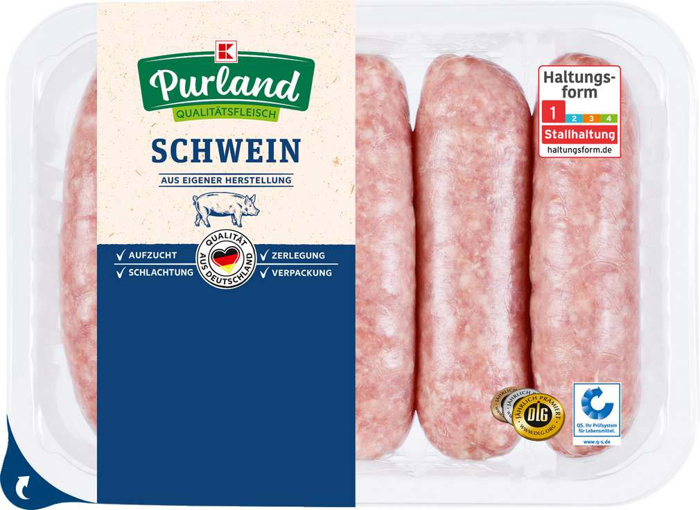Abbildung des Sortimentsartikels K-Purland Let´s BBQ Grobe Bratwurst 5 Stück