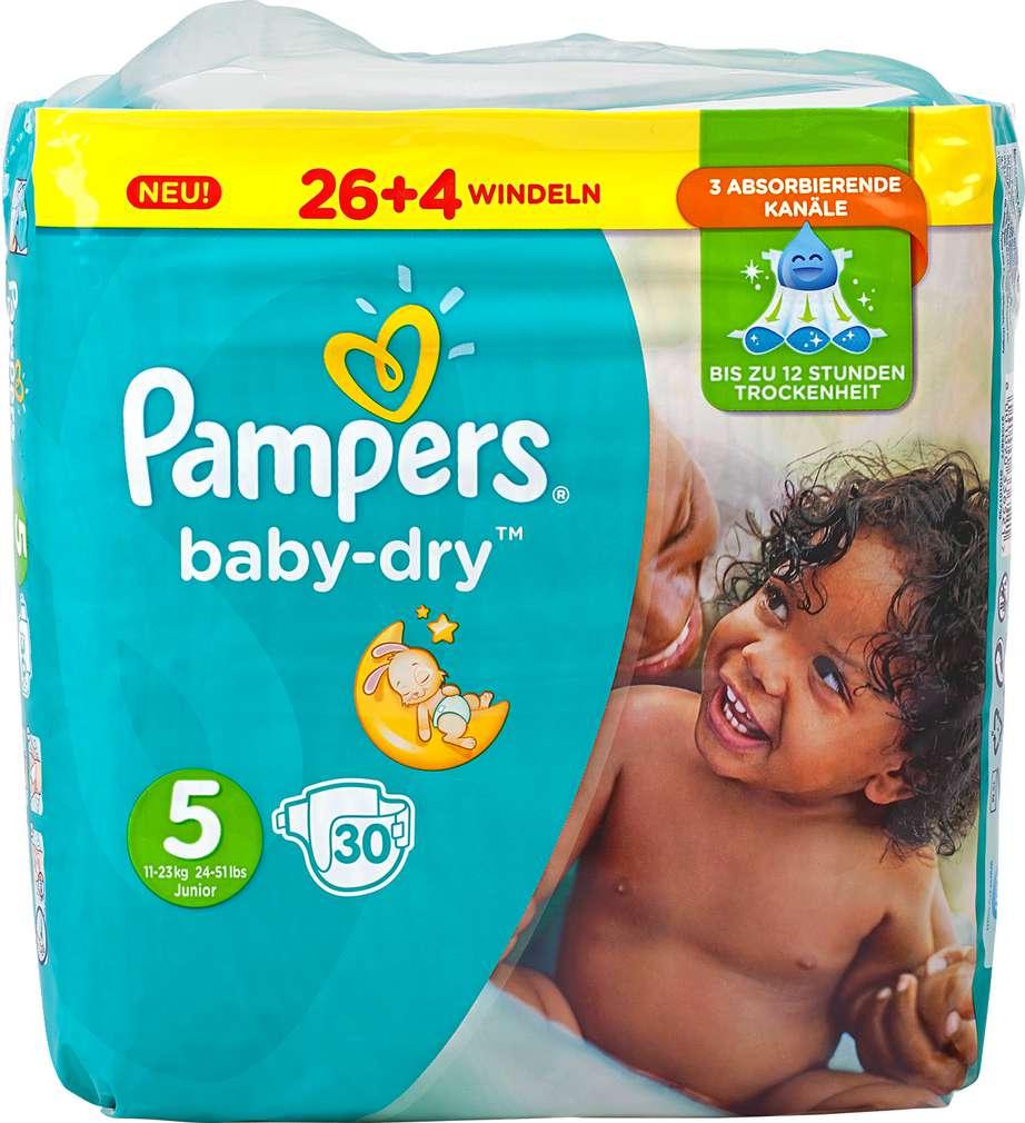 Abbildung des Sortimentsartikels Pampers Baby-Dry Windeln Größe 5 Junior 30 Stück