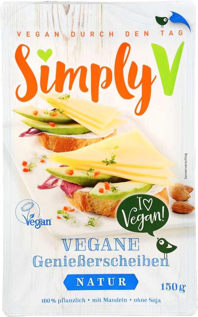 Abbildung des Sortimentsartikels Simply V Vegane Genießerscheiben natur 150g
