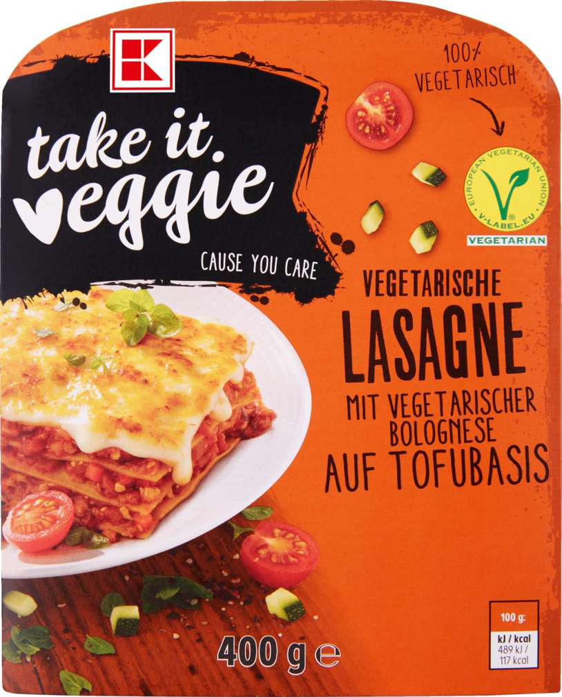 Abbildung des Sortimentsartikels K-Take it Veggie Vegetarische Lasagne 400g