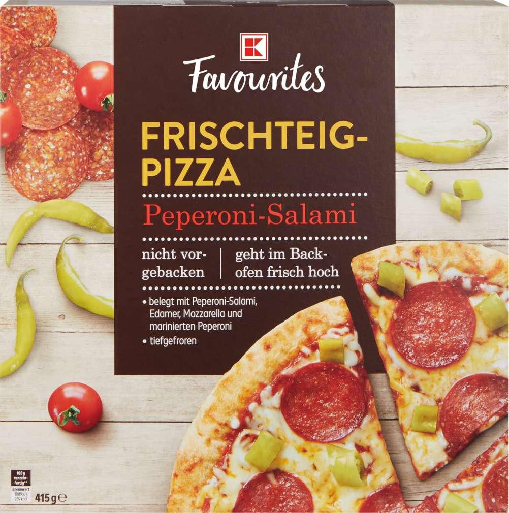 Abbildung des Sortimentsartikels K-Favourites Frischteig-Pizza Peperoni-Salami 415g