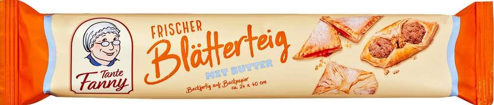 Abbildung des Sortimentsartikels Tante Fanny Frischer Blätterteig mit Butter 270g