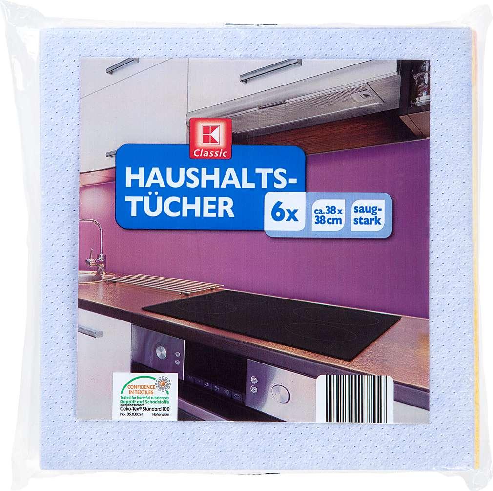 Abbildung des Sortimentsartikels K-Classic Haushalts-Tücher ca. 38x38 cm Stück