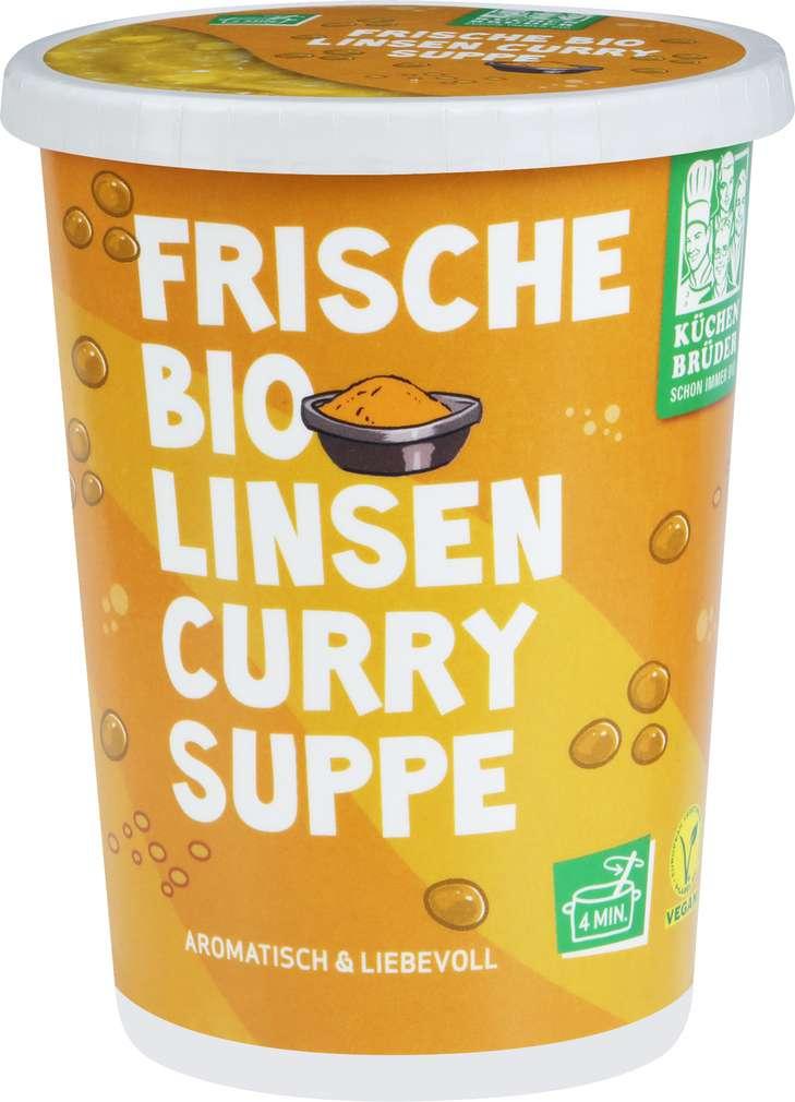 Abbildung des Sortimentsartikels Küchenbrüder Frische gelbe Linsen Bio Linsensuppe mit Curry 450ml