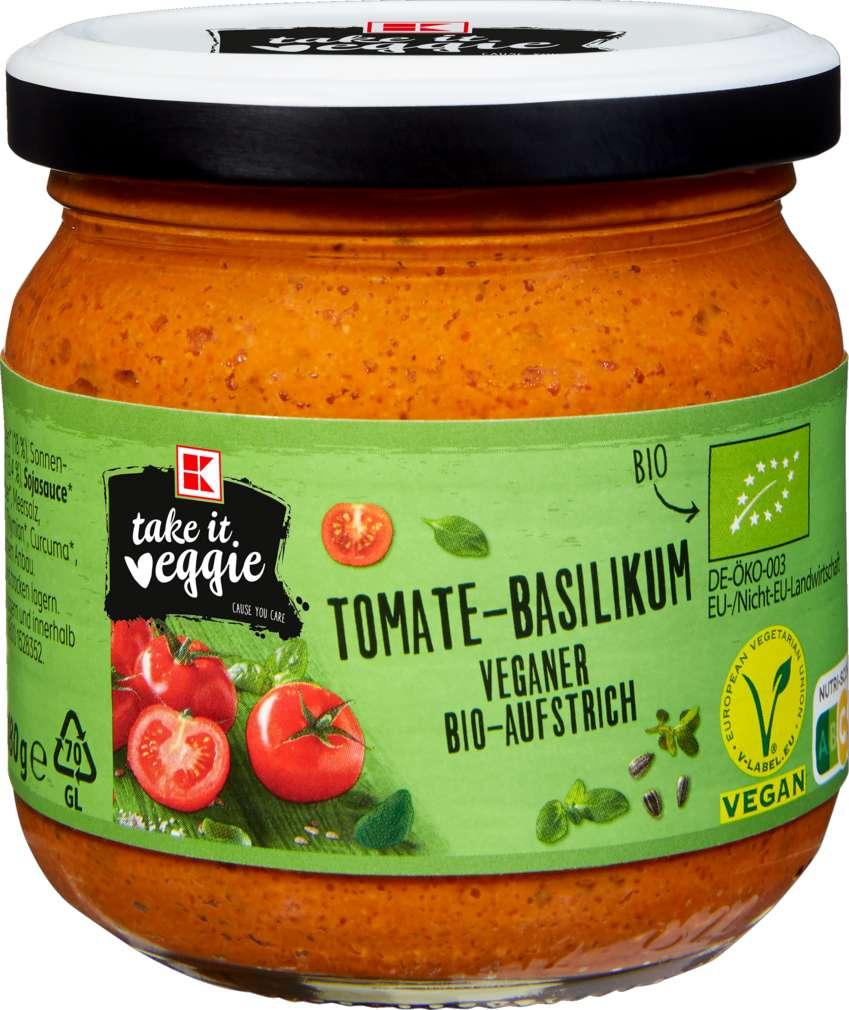 Abbildung des Sortimentsartikels K-Take it Veggie Bio-Aufstrich Tomate-Basilikum 180g