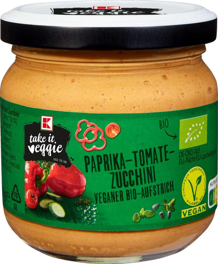 Abbildung des Sortimentsartikels K-Take it Veggie Bio Aufstrich Paprika-Tomate-Zucchini 180g