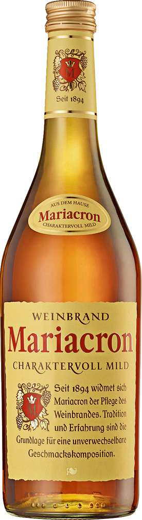 Abbildung des Sortimentsartikels Mariacron Weinbrand 0,7l