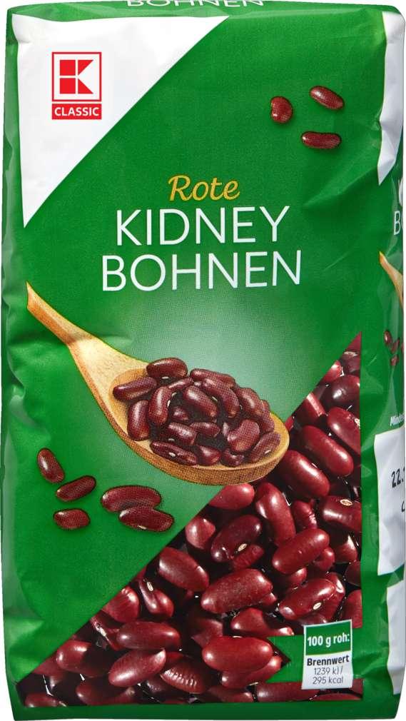 Abbildung des Sortimentsartikels K-Classic Rote Kidney Bohnen 500g