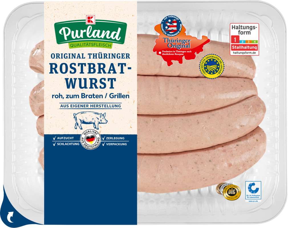 Abbildung des Sortimentsartikels K-Purland Original Thüringer Rostbratwurst 4x100g
