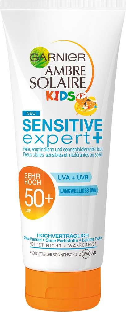Abbildung des Sortimentsartikels Garnier Ambre Solaire Kids Sensitive expert+ Sonnenschutz 50+ sehr hoch 200ml