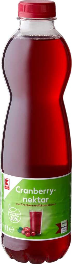 Abbildung des Sortimentsartikels K-Classic Cranberry Nektar 1,0l