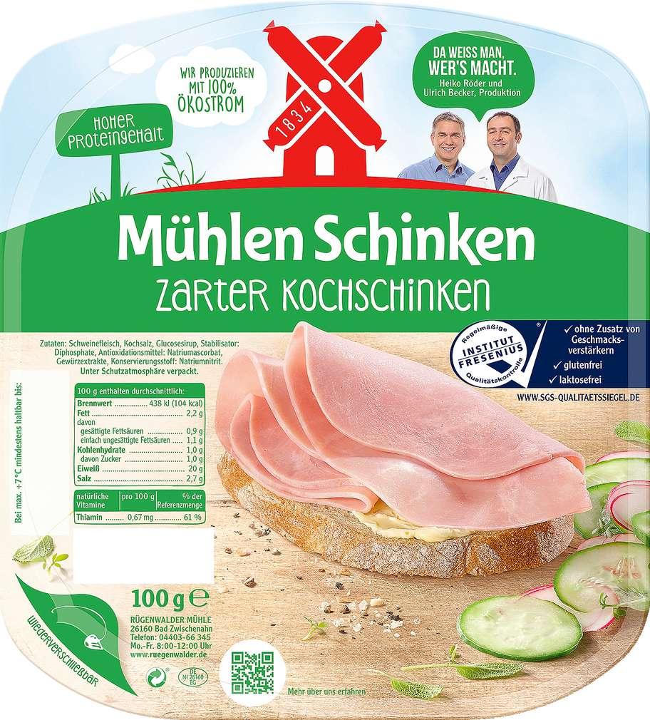 Abbildung des Sortimentsartikels Rügenwalder Mühle Mühlen Schinken zarter Kochschinken 100g