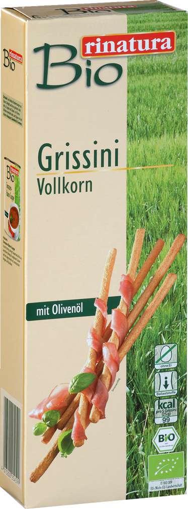 Abbildung des Sortimentsartikels Rinatura Bio Grissini Vollkorn mit Olivenöl 125g