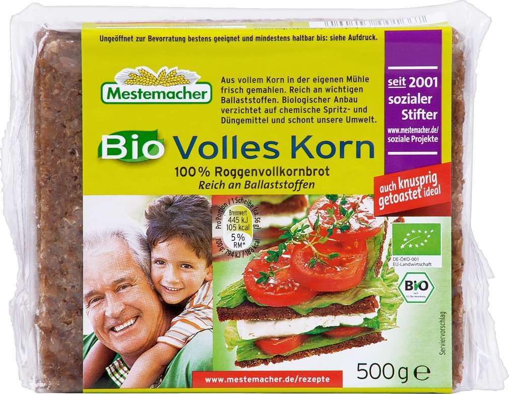 Abbildung des Sortimentsartikels Mestemacher Bio Volles Korn Brot 500g