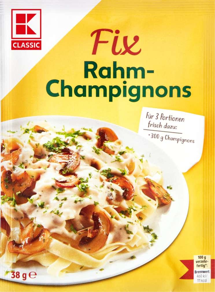 Abbildung des Sortimentsartikels K-Classic Fix für Gemüsegerichte Rahm-Champignons 3 Portionen