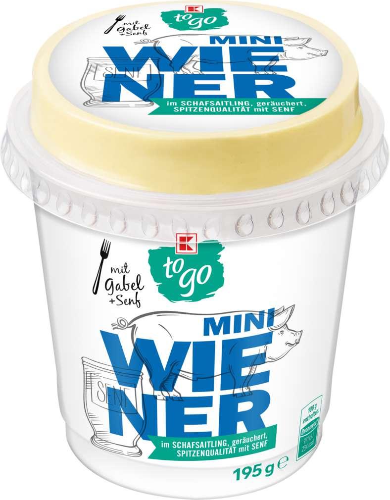 Abbildung des Sortimentsartikels K-To Go Mini Wiener mit Senf 195g