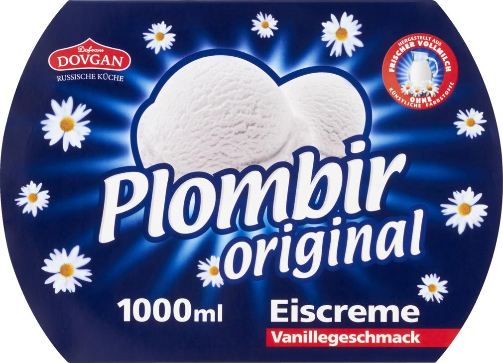 Abbildung des Sortimentsartikels Dovgan Plombir Eis Vanille 1000ml