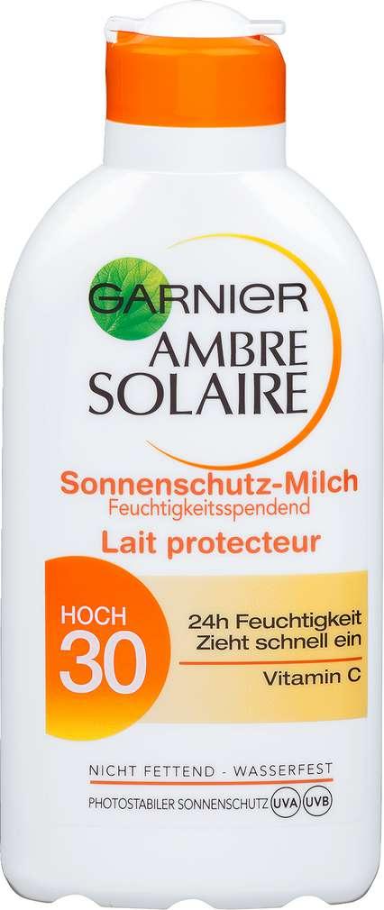 Abbildung des Sortimentsartikels Garnier Ambre Solaire Sonnenschutz-Milch LSF 30 hoch 200ml