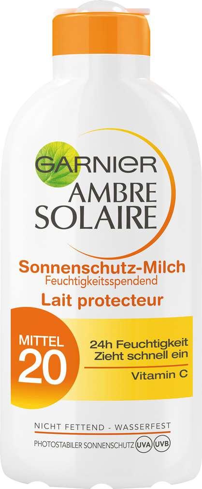 Abbildung des Sortimentsartikels Garnier Ambre Solaire Sonnenschutz-Milch LSF 20 Mittel 200ml