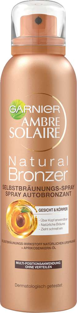 Abbildung des Sortimentsartikels Garnier Ambre Solaire Natural Bronzer Selbstbräunungs-Spray Gesicht & Körper 150ml