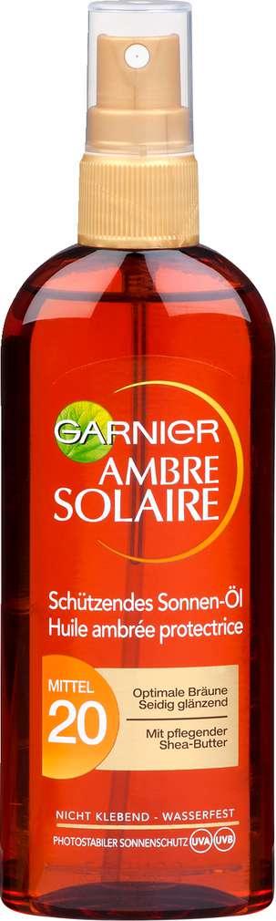 Abbildung des Sortimentsartikels Garnier Ambre Solaire Schützendes Sonnen-Öl LSF20 Mittel 150ml