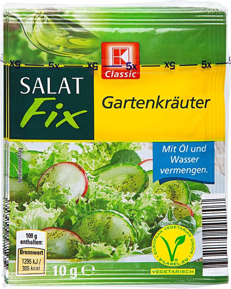 Abbildung des Sortimentsartikels K-Classic Salat Fix Gartenkräuter 5x10g