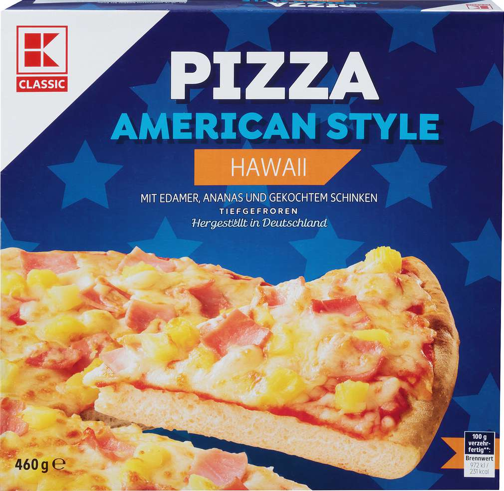 Abbildung des Sortimentsartikels K-Classic American Style Pizza Hawai 460g