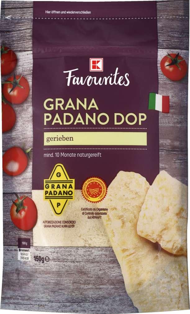Abbildung des Sortimentsartikels K-Favourites Grana Padano DOP gerieben 150g