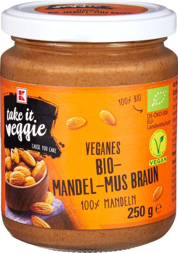 Abbildung des Sortimentsartikels K-Take it Veggie Veganes Bio-Mandelm-Mus braun 250g