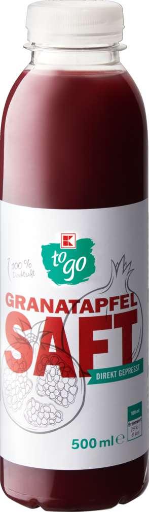 Abbildung des Sortimentsartikels K-To Go Granatapfelsaft Direkt gepresst 0,5l
