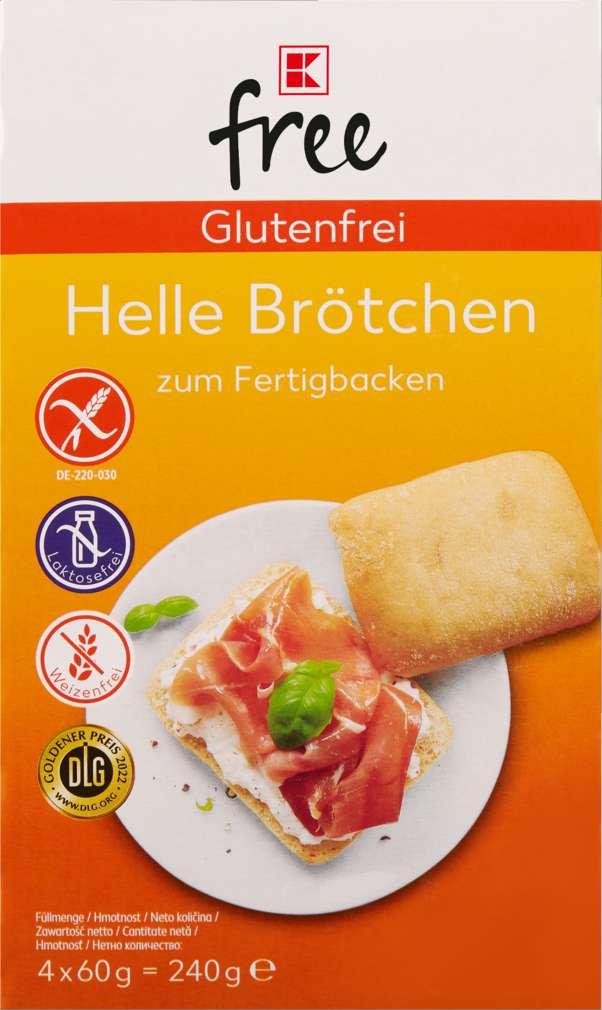 Abbildung des Sortimentsartikels K-Free Glutenfrei helle Brötchen 240g