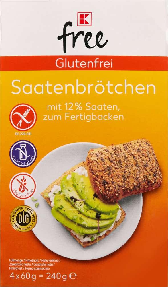 Abbildung des Sortimentsartikels K-Free Glutenfrei Saatenbrötchen 240g