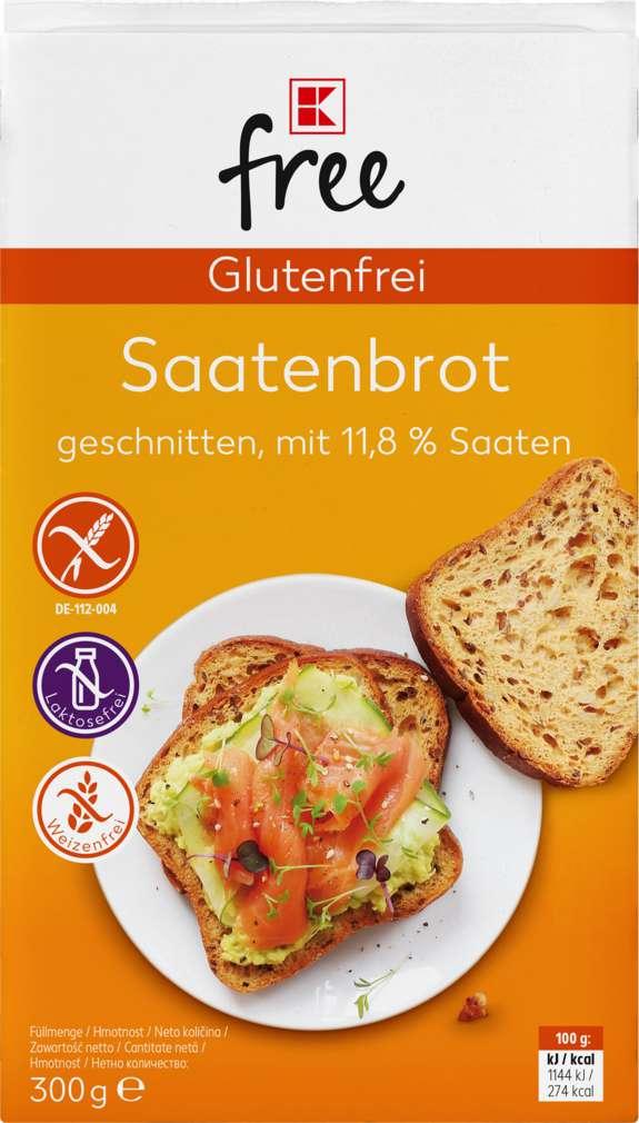 Abbildung des Sortimentsartikels K-Free Glutenfrei Saatenbrot 300g