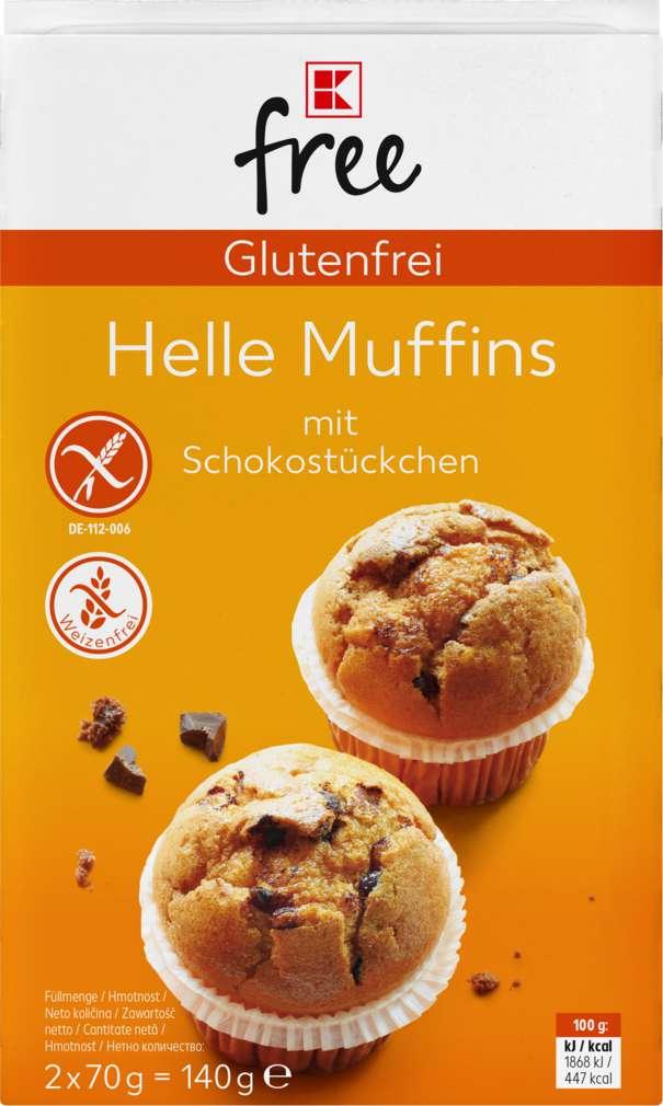 Abbildung des Sortimentsartikels K-Free Glutenfrei helle Muffins mit Schokostückchen 140g