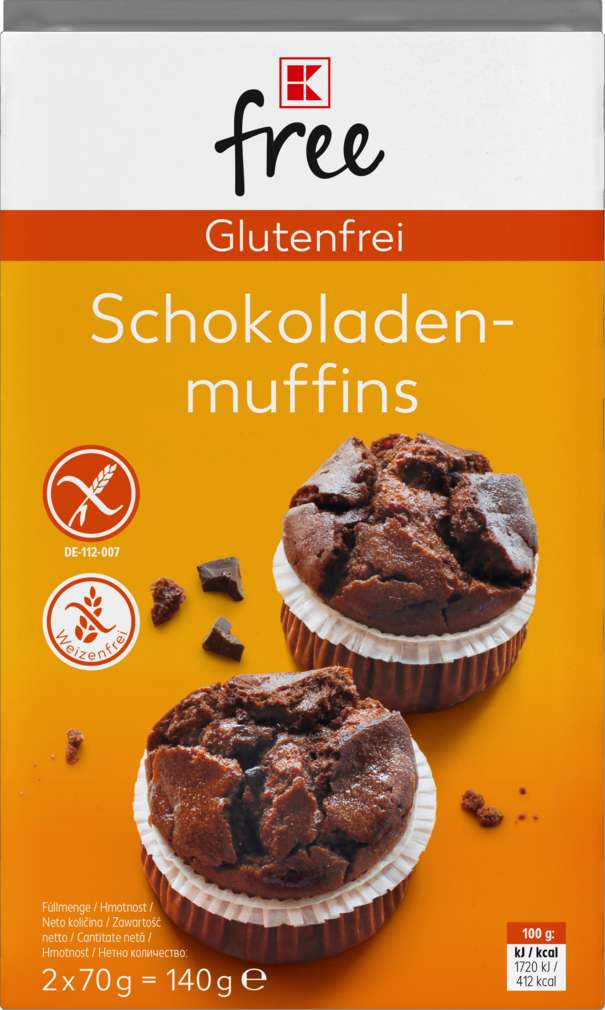 Abbildung des Sortimentsartikels K-Free Glutenfrei Schokomuffins 140g