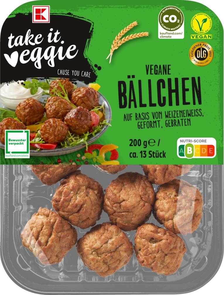 Abbildung des Sortimentsartikels K-Take it Veggie Hackbällchen 200g