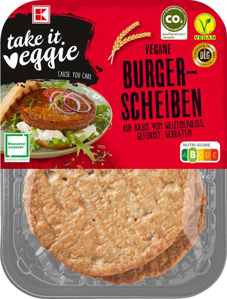 Abbildung des Sortimentsartikels K-Take it Veggie Let's BBQ Burgerscheiben 200g