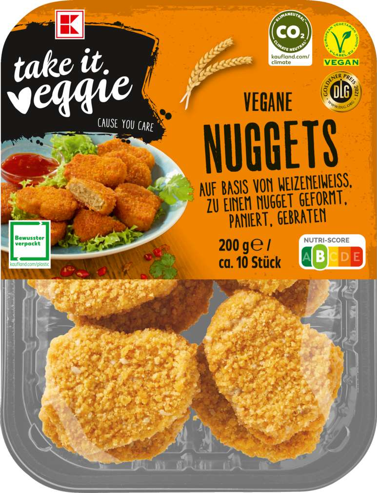Abbildung des Sortimentsartikels K-Take it Veggie Nuggets 200g