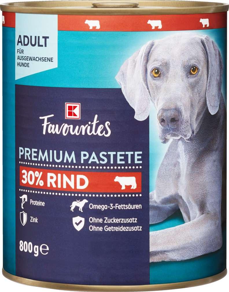 Abbildung des Sortimentsartikels K-Favourites Hundenahrung Premium Pastete Rind 800g